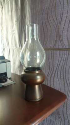 Beautiful Thai wood crafted candle Lamp