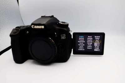 Canon EOS 70D 20.2MP Wi-Fi DSLR camera Body, Digital SLR Camera
