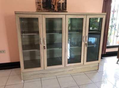 2xLiving room cabinet,Sideboard,cabinet 4-door, wood look,Display case