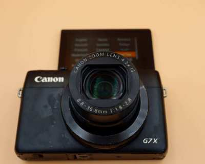 Canon 24-100mm F1.8-2.8 G7 X  Wi-Fi NFC Vlogging Camera, PowerShot G7X