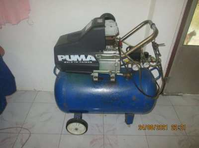 3 HP Compressor with accessories.  Puma, single phase supply.