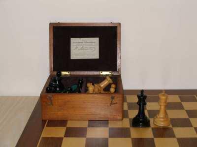 ANTIQUE JAQUES STAUNTON CHESS SET + 2 (NON ANTIQUE BOARDS)