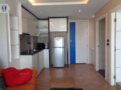 Condo size 38 sq.m., 1 Bedroom, 1 Bathroom, 1 Living room with Big bal