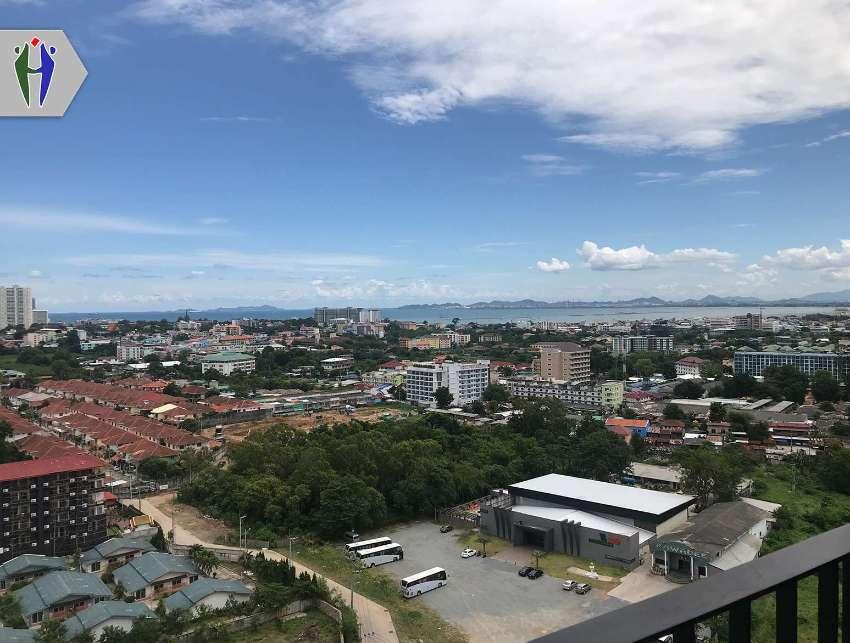 Condo for rent at North Pattaya 9,000 baht with Washing machine