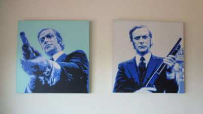 For sale are these 2 very nice Modern Art paintings of Michael Cain.