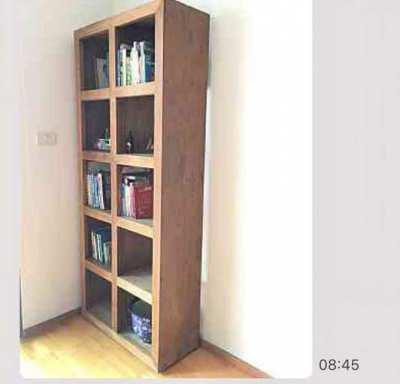 Wooden bookshelf from Indonesia