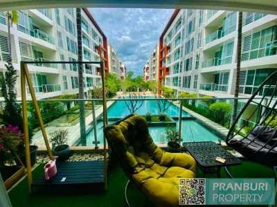 Spacious 130 sqm 2 bedroom condo with nice long view Khao Takiab