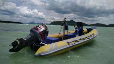 Osprey Inflatable boat with Yamaha 150HP engine including trailer