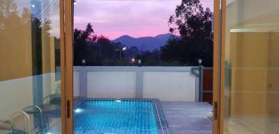 Modern 3 Bed/2 Bath Pool Villa for rent Bang Saray beachside