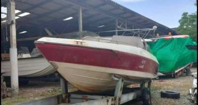 Empty speed boat