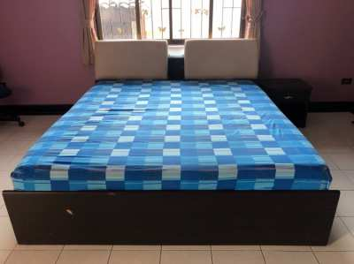King size bed With storage space and light
