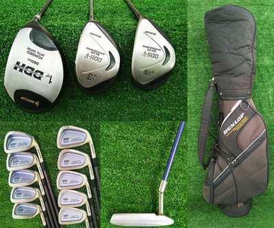 Golf clubs, Dunlop DDHV full set in bag