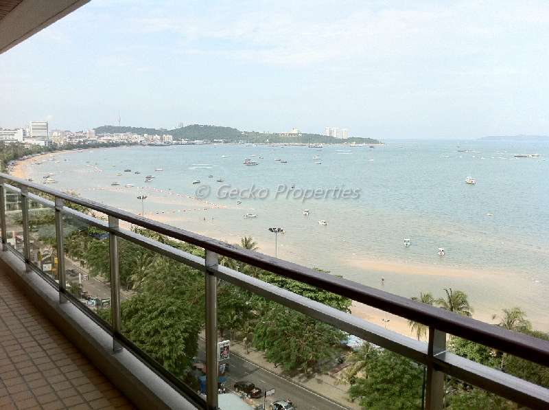 2 bed 2 bath High floor-Sea view Condo for rent in Central Pattaya