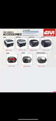 New Givi top boxes