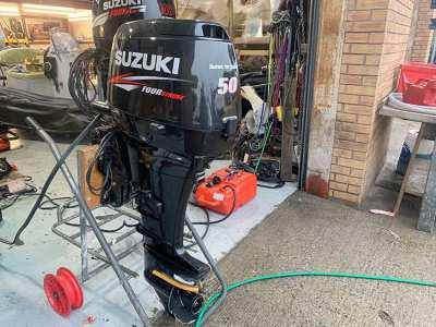 Used Suzuki DF50 50HP 4-Stroke Outboard Motor