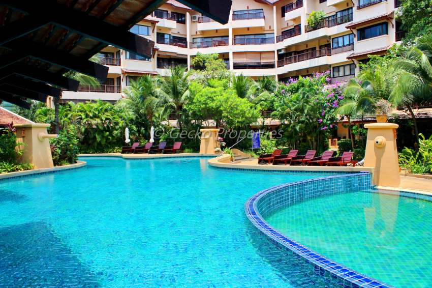 Spacious 1 bed 1 bath Pool view Condo for rent in Jomtien