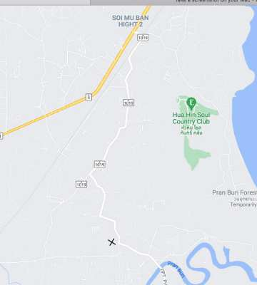 Land for sale Pranburi by Owner