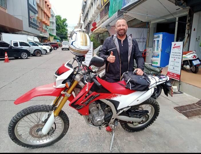 Promotion Honda CRF 250  or Kawasaki KLX 250 350 baht a day
