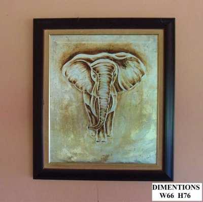 Gold Elephant - Oil on Canvas