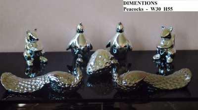7 Piece Silver Ornament Set