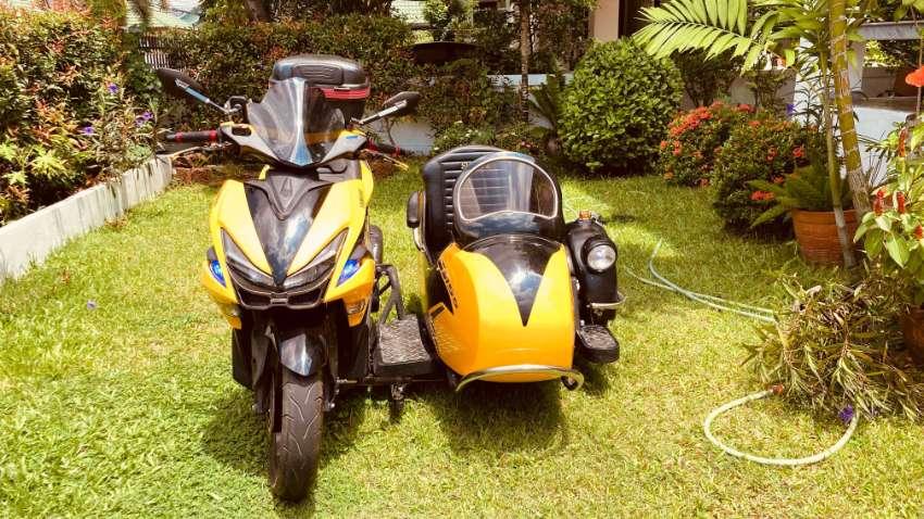 Yamaha aerox 155cc 2018 with sidecar custome made