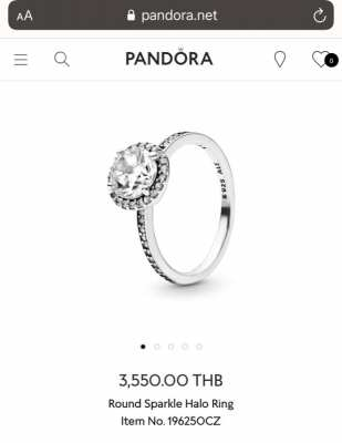 Pandora Silver 925 ring ???? with stone (ORIGINAL) (New)