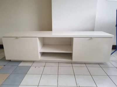 2 white nice TV cabinets
