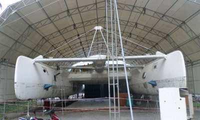 Motor party catamaran