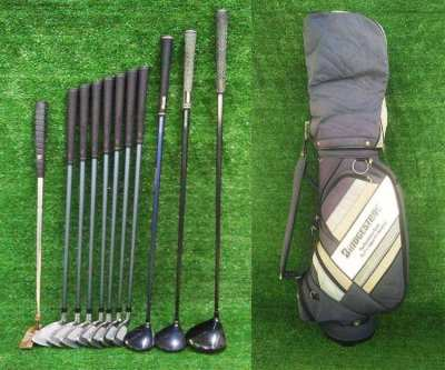 Bridgestone golf clubs full set in bag