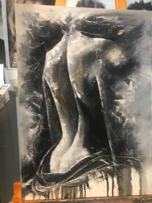 Erotic arts Oil Painting on Canvas size 50*70 cm for sale