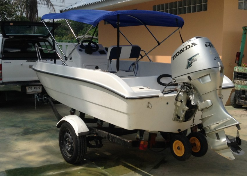 Motorboat with 45 HP Honda 4T