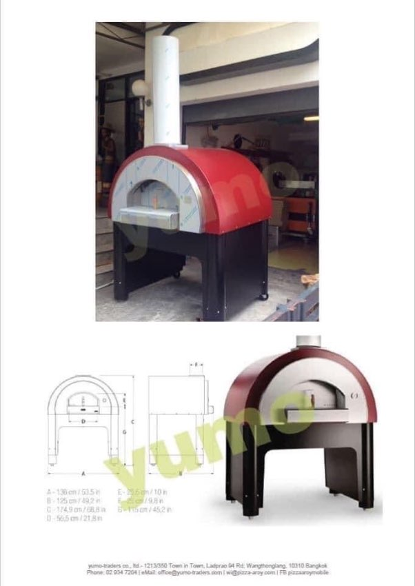 WOOD FIRED Light weight pizza oven