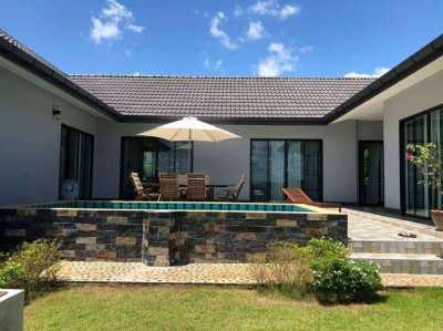 For rent modern U shape villa with pool