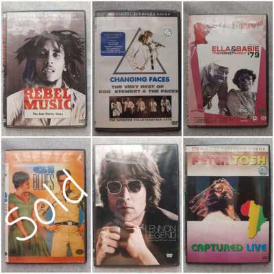 Original Music DVD's - Bowie, The Clash, REM and more