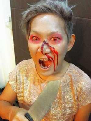 Halloween party Makeup in Phuket