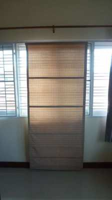 Six window blinds for sale, including fittings,