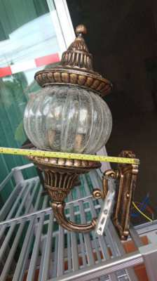 Lampe outside metal and glass 559 baths