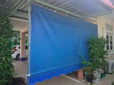 2 piece  plastic shade curtain