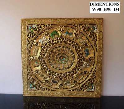 Large Hand Carved Hardwood Plaques - Choice of 3