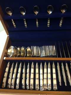 Cutlery with mother of pearl price 9,800 baht for 24 pcs. with box