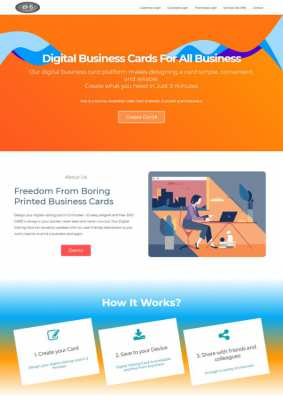 I will create digital visiting card system with ecommerce for you