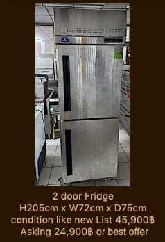 2 door fridge condition like new