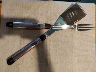 Barbecue Fork & Scraper – Never Used