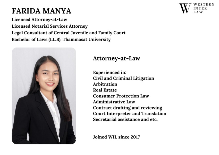 Farida Manya, English Speaking Lawyer in Pattaya, Thailand