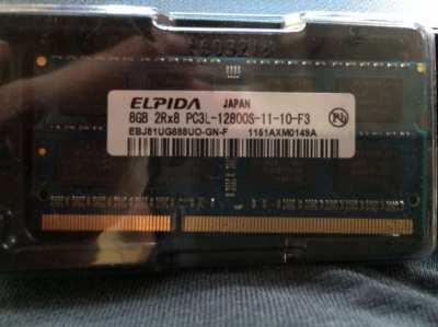 8GB 2X8GB DDR3L RAM Memory 1000 baht plus postage, New, never used.