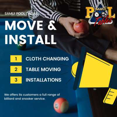 Pool Table Services : Table Moving, Cloth Change, Leveling, Assembly