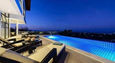 For sale sea view villa in Chaweng Koh Samui
