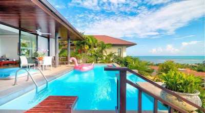 For sale sea view villa in Lamai Koh Samui