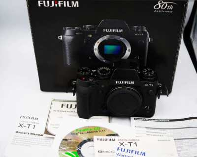 Fujifilm X-T1 Weather Resistant Wi-Fi Camera Black Body in Box XT1