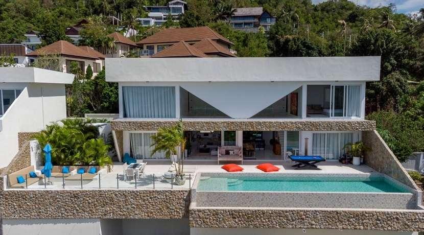 For sale new sea view villa in Bophut Koh Samui